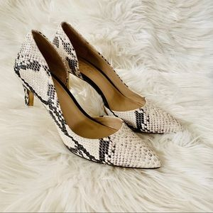 Lord & Taylor 424 fifth snakeskin pumps size 71/2M